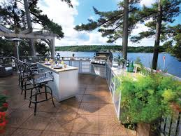 minimalist outdor kitchen ideas outdoor countertop island outdoor