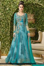 party wear dress buy rama colour net embroidered work party wear gown online for