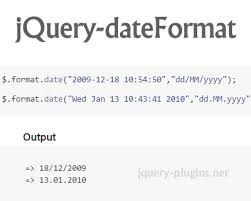 format date javascript jquery date formatting jquery plugins