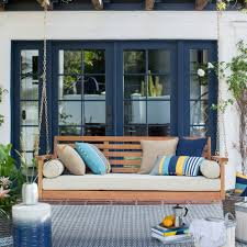Furniture Using Comfy Porch Swing Cushions For Cozy Outdoor - Yellow patio furniture