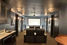 Houzz Media Room - http www houzz com photos 1017908 basement family room and bar