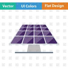 solar panels clipart flat color design of solar energy panel in ui colors vector