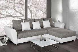 canape bicolore design étourdissant canape angle gris blanc décoration française