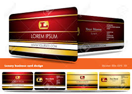 luxury business card design royalty free cliparts vectors and