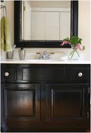 Glass Bathroom Vanity Tops by Bathroom Black Bathroom Vanity With White Sink Image Of Bathroom