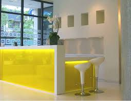 curved reception desk wih led light contemporary and modern office