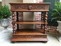 Antique Server Buffet by Antique French Carved Oak Barley Twist Renaissance Server