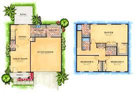Small 2 Bedroom House Plans Bedroom 3 Bedroom 2 Bath House Plans Floor Plans For Small