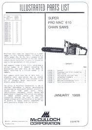 mcculloch 610 chainsaw parts images reverse search