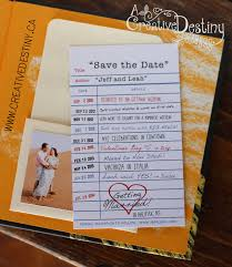 Creative Save The Dates Library Card Save The Dates Creative Destiny Stationery Design