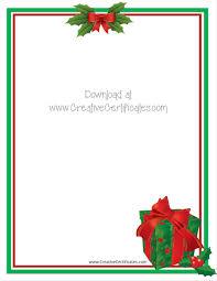 free christmas letterhead templates free christmas stationery