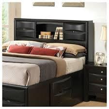 buy berkley storage headboard finish black size california king