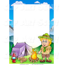 Wallpaper Borders For Kids Borders For Kids Clipart Of A Scout Boy Camping In The Wilderness