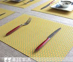 table mats and coasters fashion plaid pvc placemat coasters dining table mat heat insulation