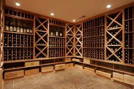 furniture wine cellar lighting with wooden wine cellar racks and