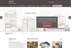 website homepage design staten island web design eps construction