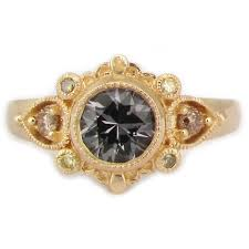 shira ring 14k yellow gold engagement ring with green sapphire and