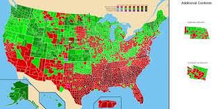 1996 Presidential Election Map by National Presidential Primary County And State Maps 1912 2016