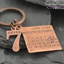 7 year wedding anniversary gift copper gift personalized copper keychain copper gifts for men