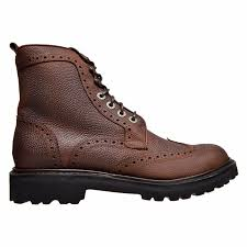 s boots lace up wolverine percy wingtip leather lace up s boots brown size 12