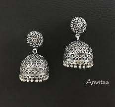 Buy Tribal German Silver Jhumka German Silver Jhumka 6 Anwitaa Arts U0026 Handicrafts
