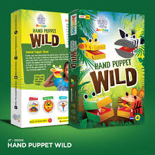 paper wild animal hand puppets craft toy for kids indiabizclub