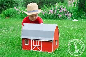 Toy Barn With Farm Animals Diy Toy Wooden Barn Adventure In A Box