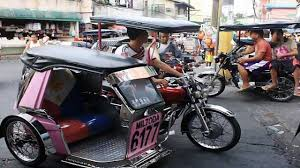 philippine tricycle trike ride angeles city philippines youtube
