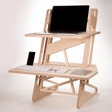laptop standing desk converter standing desk converter cnc cut from european birch plywood