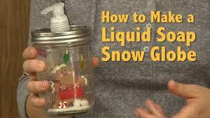 how to make a liquid soap snow globe youtube