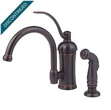 discontinued kitchen faucets tuscan bronze amherst 1 handle kitchen faucet 034 4hay pfister