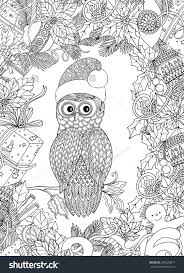 christmas owl printable coloring pages the christmas owl flickr