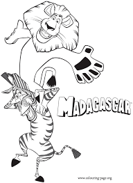 Madagascar Alex Marty U0027s Shoulders Coloring
