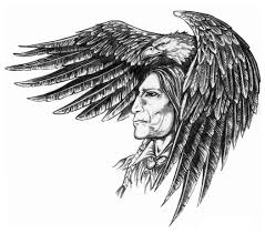 grey ink american indian tattoos for men