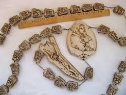 wall rosary vintage large italy wall rosary 72 inches madonna from