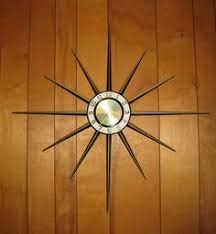 retro wood paneling mid century modern lux starburst sunburst cream white retro