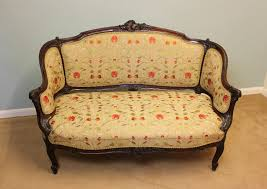 vintage victorian style sofa antique victorian loveseat settee apoc by elena vintage