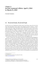 jewish communal affairs april 1 2014 to march 31 2015 springer
