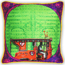 Kitsch Home Decor by Splash Of Green Poli Dupion Cushion Cover From The Exclusive Home