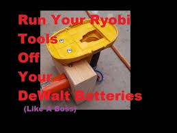 ryobi fan and battery making ryobi one tools run off dewalt battery youtube