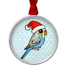 blue budgie ornaments keepsake ornaments zazzle