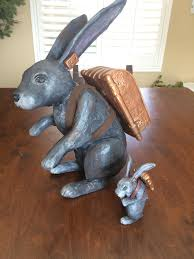 paper mache rabbit paper mache rabbit i hated it so i created a smaller one in clay
