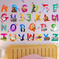 lettre chambre enfant amovible lettre alphabet étanche pvc diy wall sticker enfants