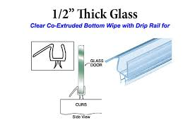 shower door sweeps shower door bottom seal all about doors