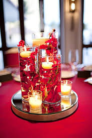Table Decoration Ideas Christmas Table Decorations Inside Red And Silver Table