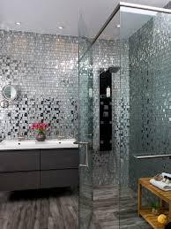 Grey Mosaic Bathroom Cork Tiling Home