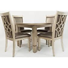 jofran 1650 52 casa bella round dining table in vintage silver w jofran casa bella round dining table in vintage silver w mirror inset glass top