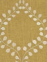 Robert Allen Drapery Fabric Ornate Frame Pool Floral Cotton Drapery Fabric By Robert Allen