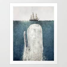 terry fan the whale art print prints by terry fan society6