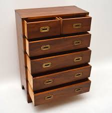 Yew Filing Cabinets Antique Campaign Style Yew Wood Chest Of Drawers Marylebone